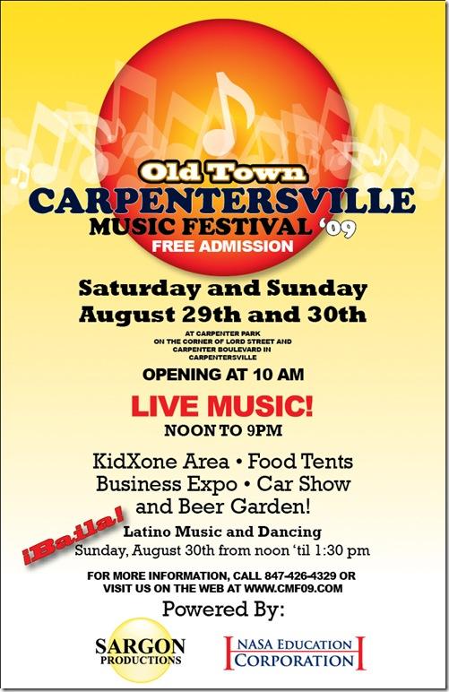 Carpentersville festival poster